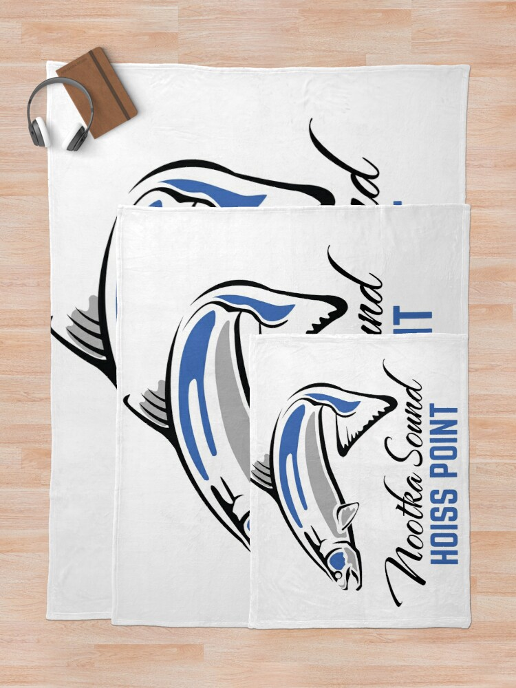Alternate view of Hoiss Point - Nootka Sound - Salmon Logo Throw Blanket