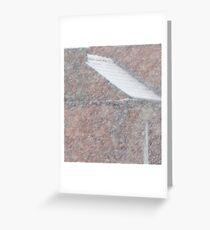 Close Through Falling Snow Greeting Card