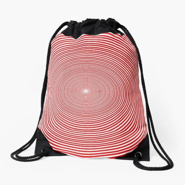 Optical illusion Concentric Circles Geometric Art - концентрические круги Drawstring Bag