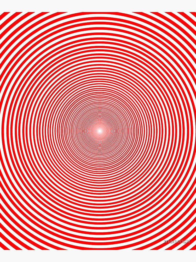 Optical illusion Concentric Circles Geometric Art - концентрические круги by znamenski