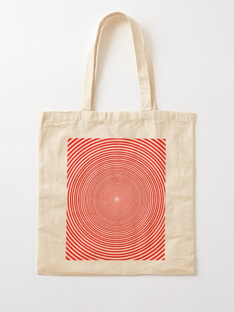 Alternate view of Optical illusion Concentric Circles Geometric Art - концентрические круги Tote Bag