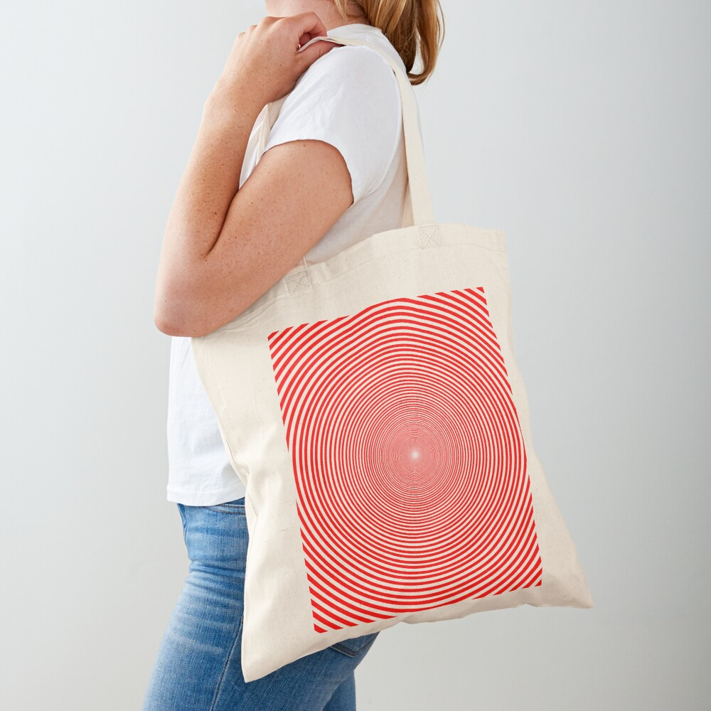 Optical illusion Concentric Circles Geometric Art - концентрические круги Tote Bag