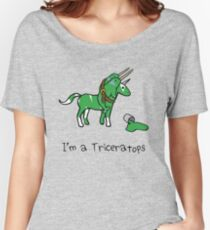 I'm A Triceratops (Unicorn + Narwhals) Women's Relaxed Fit T-Shirt