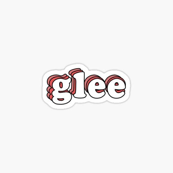 glee sticker Sticker