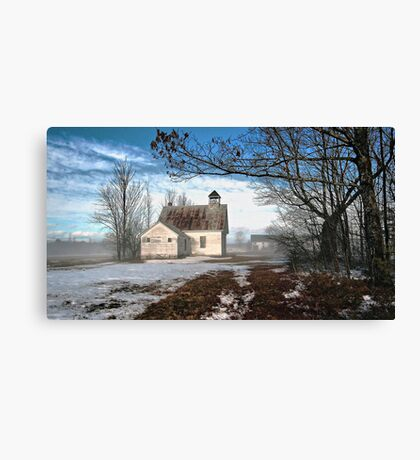--Maple Ridge Schoolhouse Canvas Print