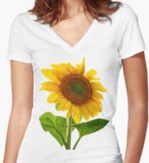 Sunflower Days Women's Fitted V-Neck T-Shirt