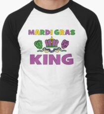Mardi Gras King Men's Baseball ¾ T-Shirt