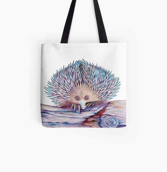 Echidna All Over Print Tote Bag