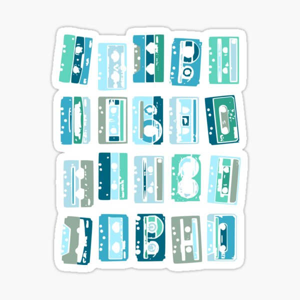 Kassetten machen das Leben bunter Sticker