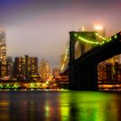 Misty Evening By The Brooklyn Bridge by Chris Lord