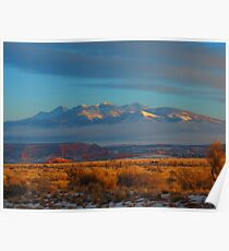 Utah dawn Monte La -Sal Mountains Poster