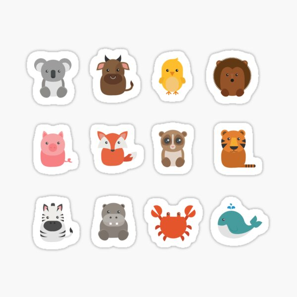 Itty Bitties Animals Stickers for Journals / Planners / Scrapbooking Sticker