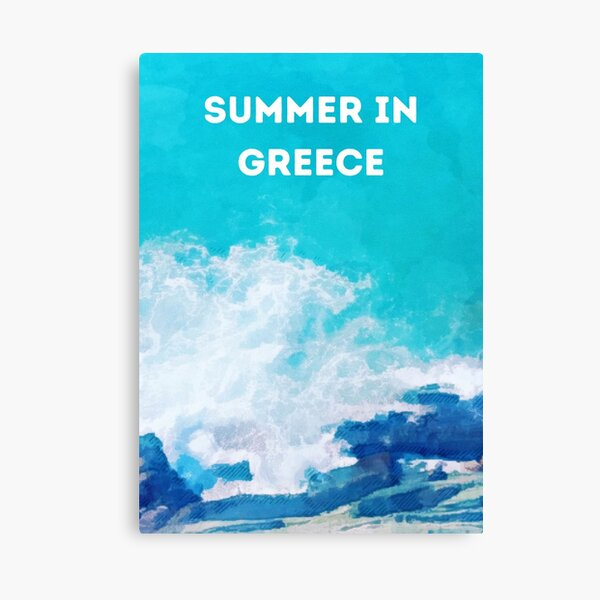 Summer in Greece Canvas Print