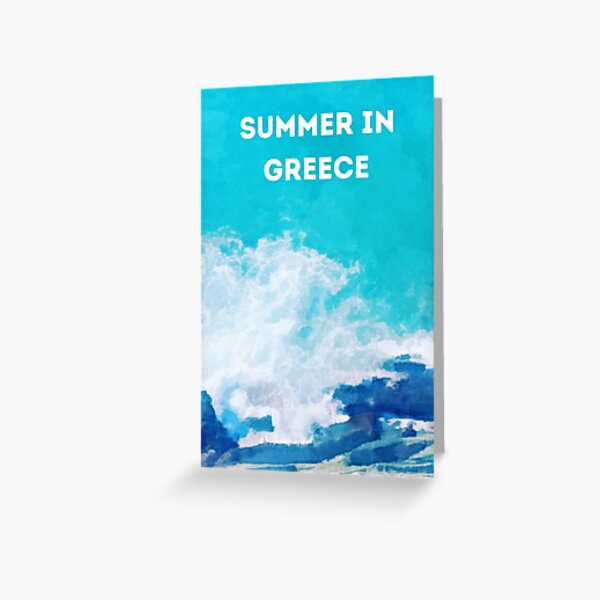 Summer in Greece Greeting Card