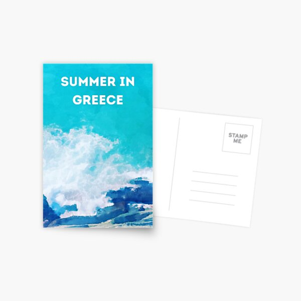 Summer in Greece Postcard