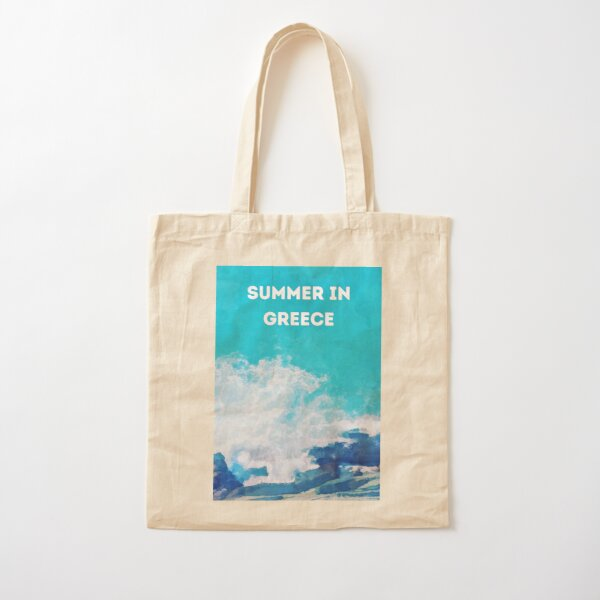 Summer in Greece Cotton Tote Bag
