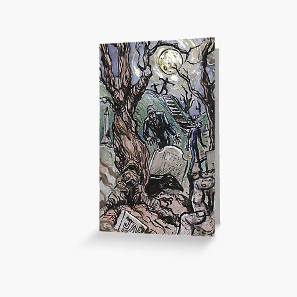 Zombie Graveyard Greeting Card