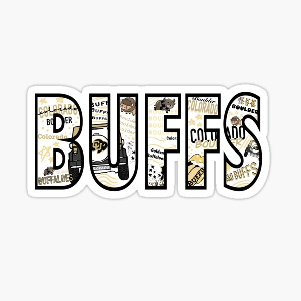 University of Colorado Boulder Buffs Block Letter Sticker