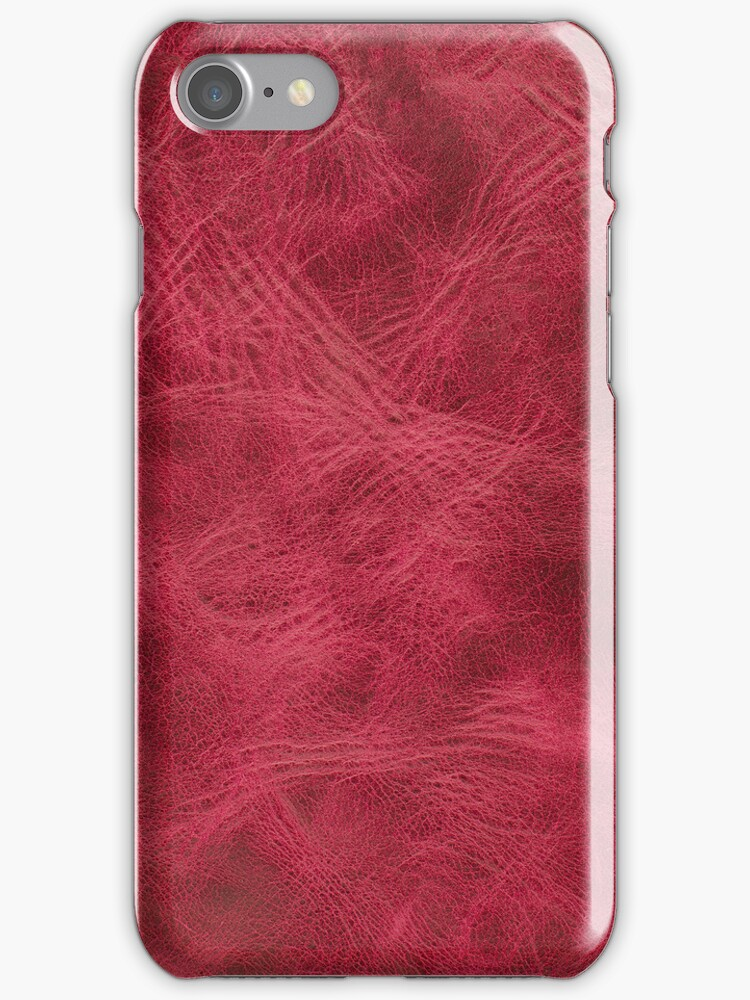 Pink leather texture closeup by homydesign