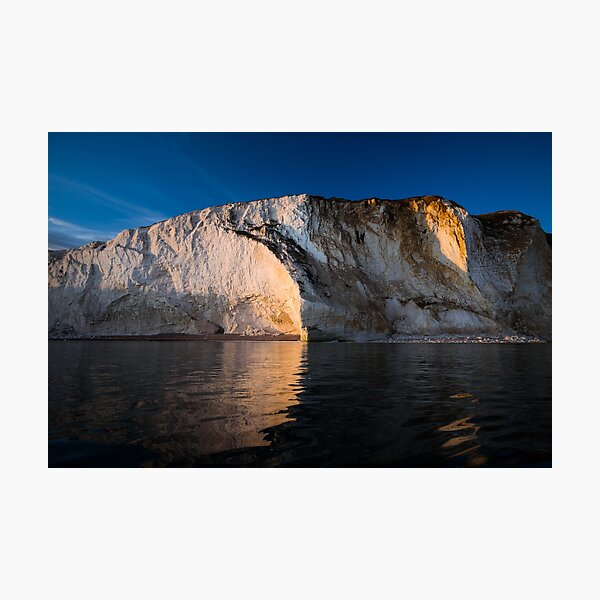 Seaford Head cliff face. Photographic Print