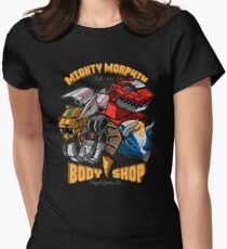 Mighty Morphin Body Shop Womens Fitted T-Shirt