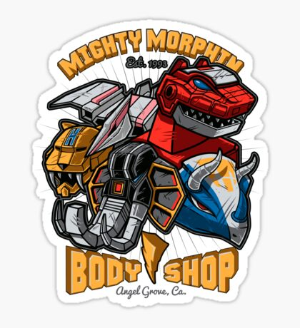 Mighty Morphin Body Shop Sticker