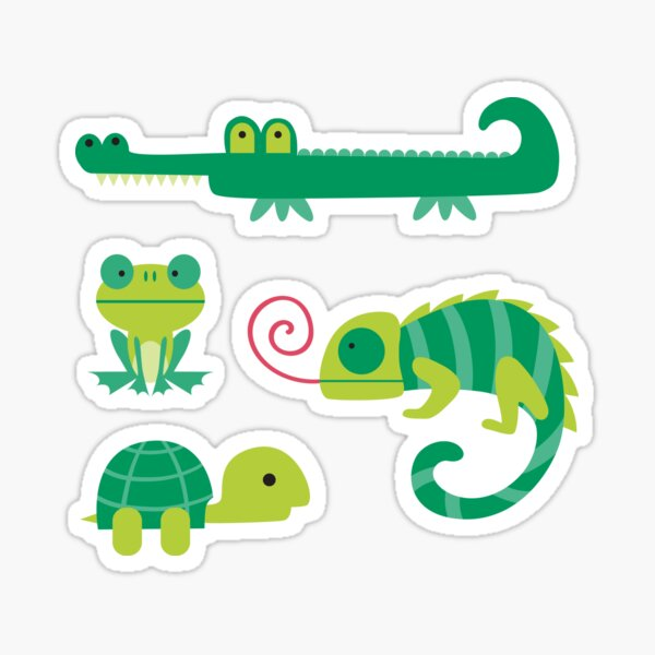 Reptile Stickers for Journals / Planners / Scrapbooking Sticker