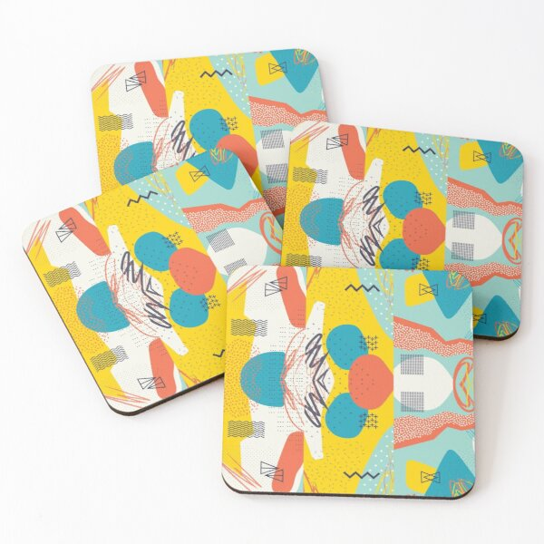info-graphic Coasters (Set of 4)