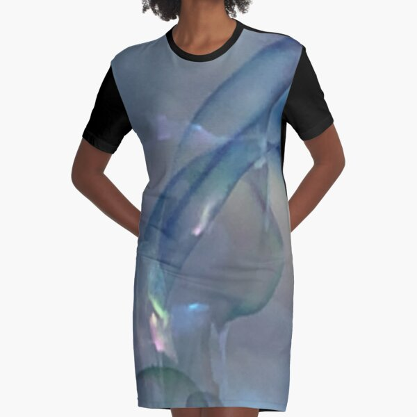 Bubble Abstract Graphic T-Shirt Dress
