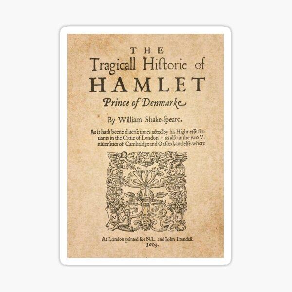 Shakespeare, Hamlet 1603 Sticker