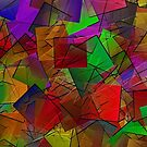 Colour Cubes-Available As Art Prints-Mugs,Cases,Duvets,T Shirts,Stickers,etc by Robert Burns