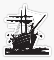 Boston Tea Party Raiders Retro  Sticker
