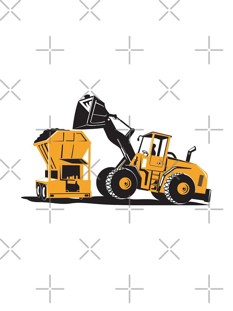 Front End Loader Digger Excavator Retro  by patrimonio