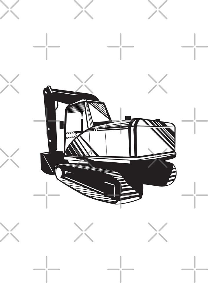 Mechanical Digger Excavator Retro  by patrimonio