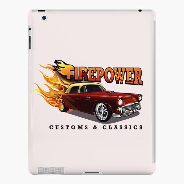 FIREPOWER CUSTOMS AND CLASSICS Flaming Custom T-Bird Official Brand Design iPad Snap Case