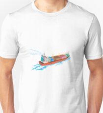 Container Ship Cargo Boat Retro  Unisex T-Shirt