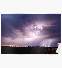 Australian Outback Storm - Barcaldine Poster