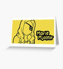 Marie Mjolnir large silhouette print Grußkarte