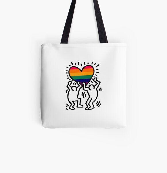 Gay Haring All Over Print Tote Bag