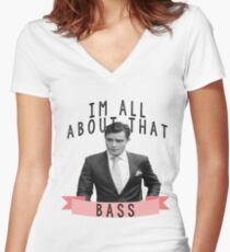 Im All about that Bass - Gossip Girl Women's Fitted V-Neck T-Shirt