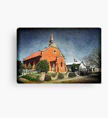 Presbyterian Church at Junee Canvas Print