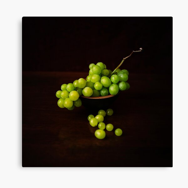A Bunch of Grapes Still Life Square Print Canvas Print