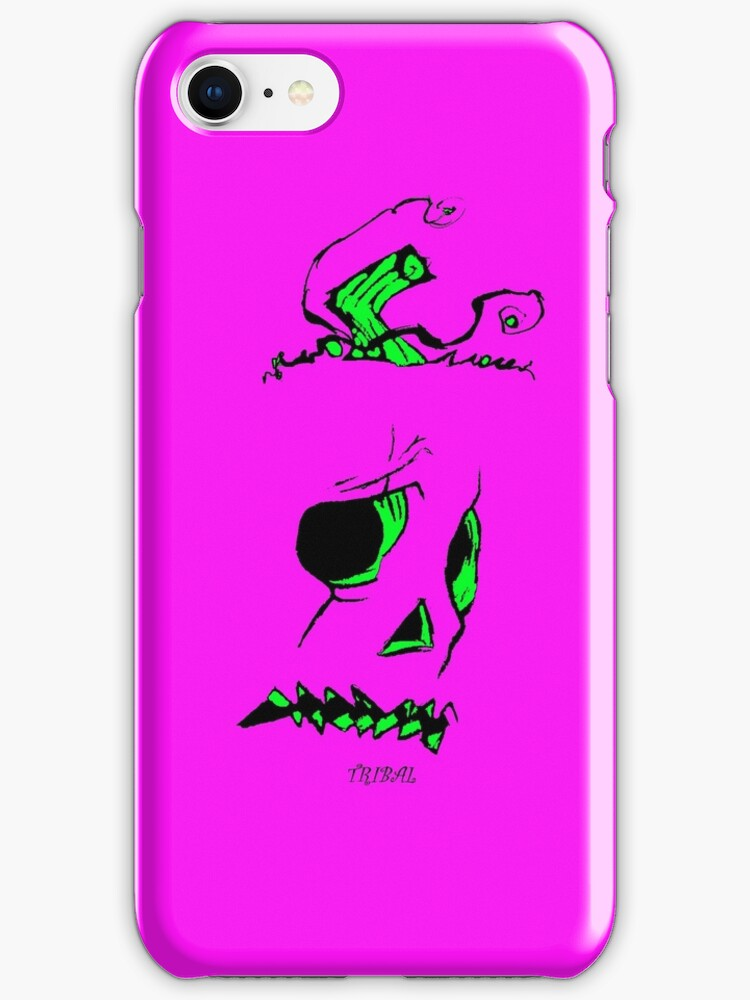 Pumpkinhead - Pink - Iphone case by tribal191983