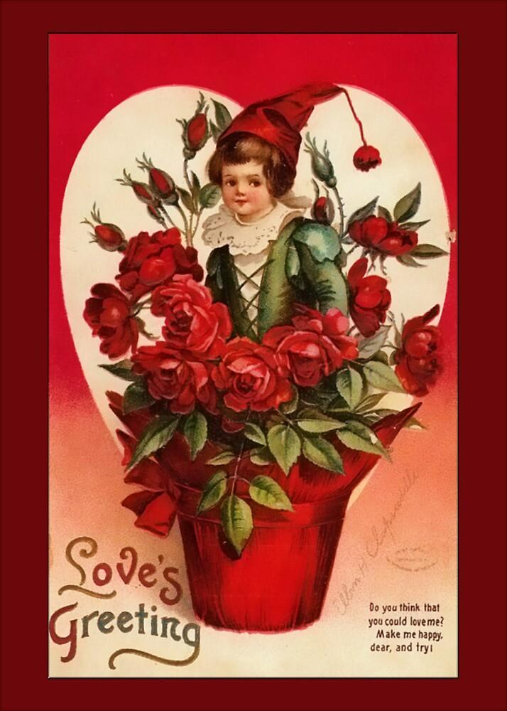 Valentine-Boy in Flower Pot by Yesteryears