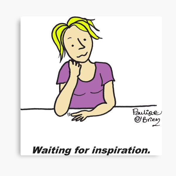 Waiting for inspiration Canvas Print