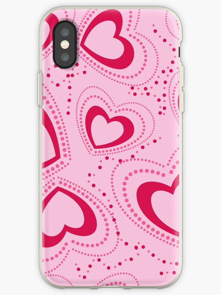 pattern with pink hearts by Marina Sterina