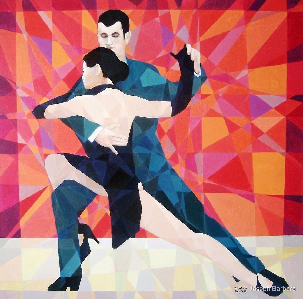 Prismatic Argentinean Tango Dancers 2 by Joseph Barbara
