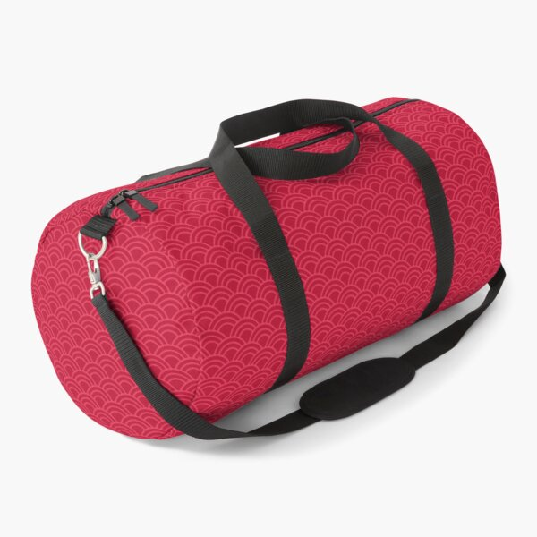 Japanese wave pattern: nautical red Duffle Bag