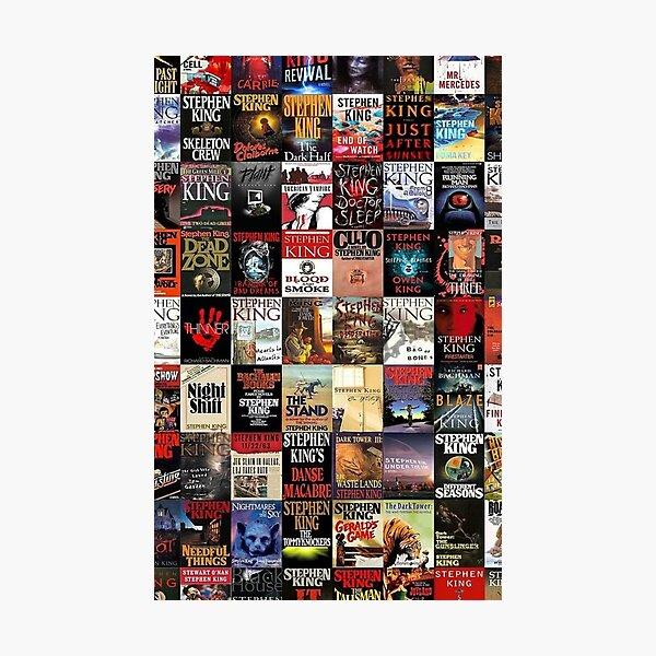 Novelas de Stephen King Lámina fotográfica