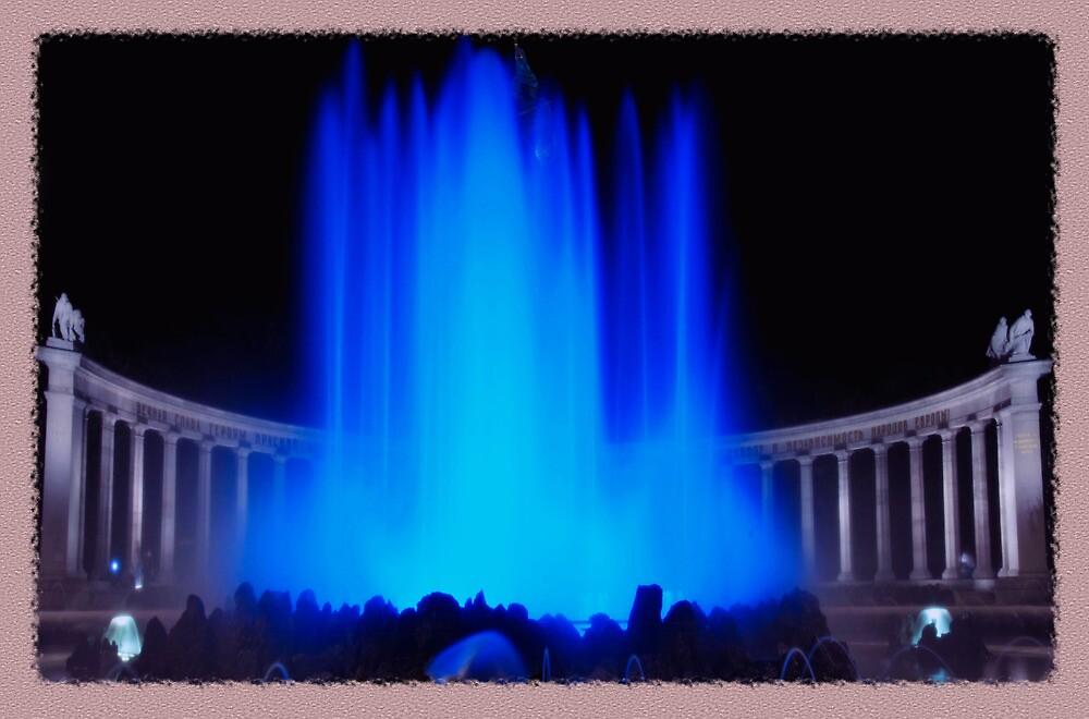 Blue waterfountain by amira